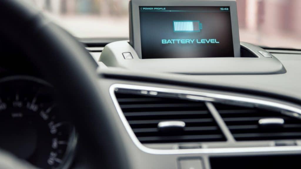 Niveau batterie intérieur voiture