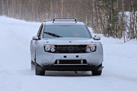 Dacia électrique sur la neige