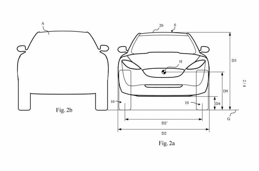 plan voiture de face